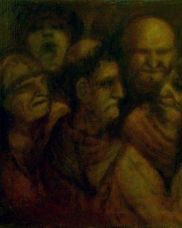 Cinq têtes de grotesques