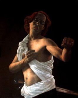 David avec la tête de Goliath<br>(VENDU)<br>Disponible sur commande