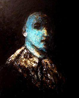 L'Homme bleu<br>(VENDU)<br>Disponible sur commande